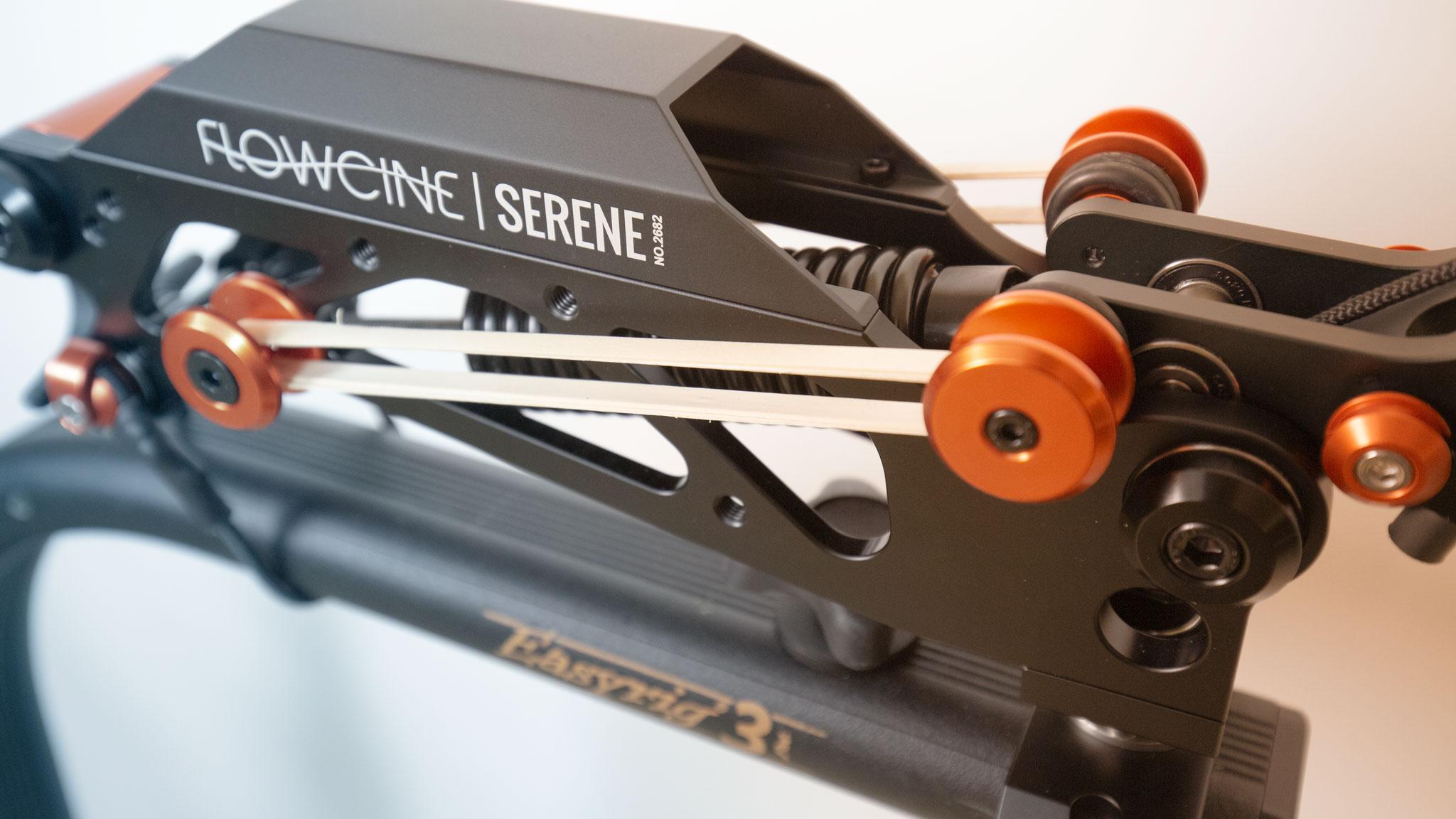 Serene Tough Bands mounted on Serene arm on Easyrig